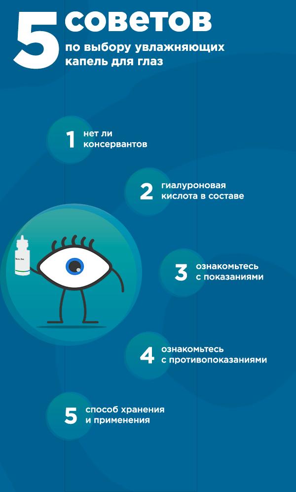 5 советов по выбору увлажняющих капель для глаз